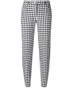 Blumarine | Checked Slim-Fit Cropped Trousers 46 Cotton/Spandex/Elastane