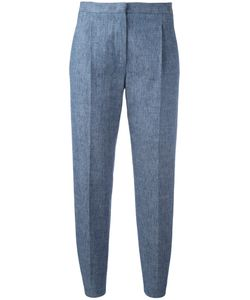 MSGM | Pleat Detail Cropped Trousers 38 Cotton/Linen/Flax