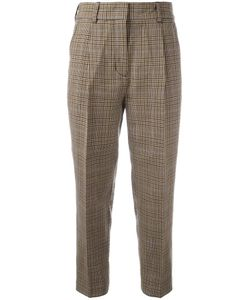 3.1 Phillip Lim | Cropped Houndstooth Trousers 6 Cotton/Wool