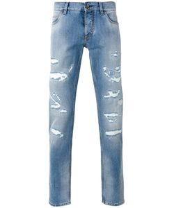Dolce & Gabbana | Ripped Detail Jeans 44 Cotton