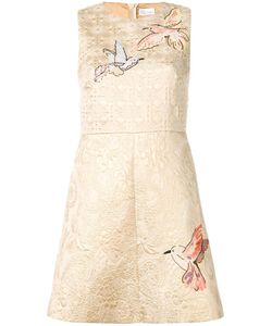 Red Valentino | Bird Appliqué Jacquard Dress 40 Cotton/Polyester/Polyamide/Polyester