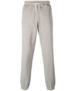 Soulland   Cuffed Hem Drawstring Trousers Medium Cotton