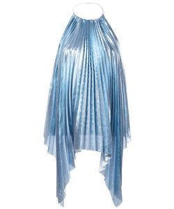 SSHEENA   Pleated Blouse Large Polyester/Viscose/Polyamide
