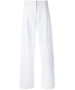 Cedric Charlier | Cédric Charlier Pleat Detail Straight Trousers Size 42 Rayon/Other