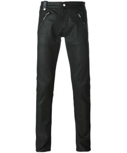 Alexander McQueen | Leather Panelled Skinny Jeans 46 Cotton/Spandex/Elastane/Leather