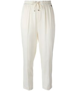 Twin-set | Drawstring Cropped Pants 44 Viscose/Spandex/Elastane