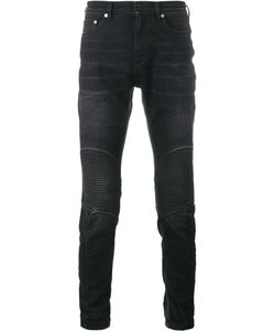 Neil Barrett | Ribbed Knee Biker Jeans 32 Cotton/Polyester