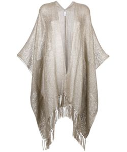 Brunello Cucinelli | Frayed Cape Polyester/Polyamide/Linen/Flax