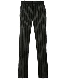 Alexander McQueen | Pinstriped Straight-Leg Trousers 52 Wool/Viscose/Acetate