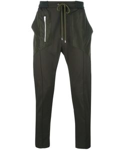 Les Hommes | Zip Detail Drawstring Trousers 46 Cotton/Spandex/Elastane/Polyester