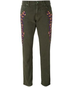 Sandrine Rose | Embroidered Slim-Fit Trousers
