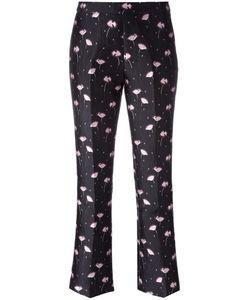 Giambattista Valli | Jacquard Trousers 44 Polyester/Polyamide/Acetate