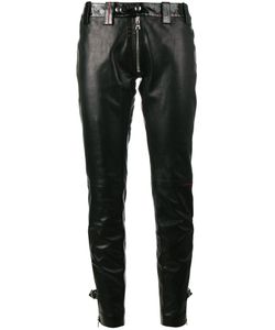 BEAU SOUCI | Exposed Zip Skinny Leather Trousers Women