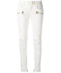 Balmain | Skinny Biker Trousers 38 Cotton/Polyethylene