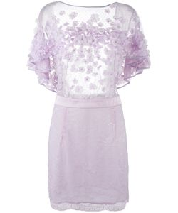 Amen | Мини-Платье С Цветочной Аппликацией
