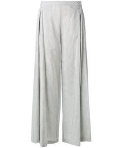 Stefano Mortari | Striped Wide Leg Trousers