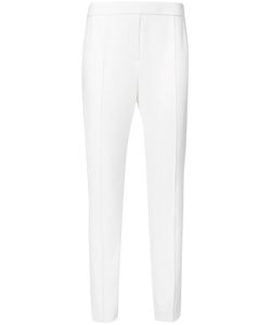 Elie Tahari | High-Waisted Trousers 8 Polyester/Spandex/Elastane/Triacetate