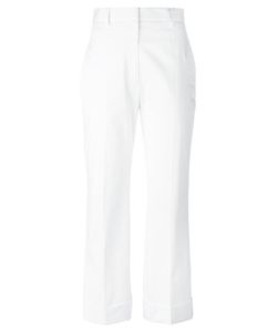 Jil Sander | High Rise Cropped Pants 40 Cotton/Spandex/Elastane