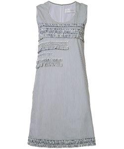 Victoria, Victoria Beckham   Victoria Victoria Beckham Striped Ruffle Panel Dress