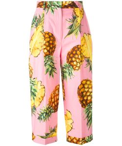 Dolce & Gabbana | Pineapple Print Cropped Trousers 42