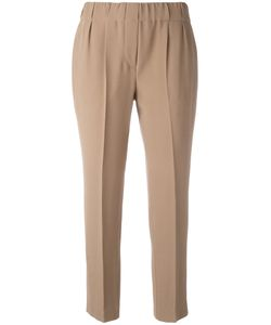 Brunello Cucinelli | Tapered Stretch-Waist Trousers Size 42
