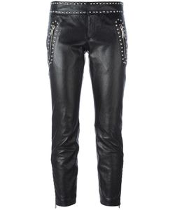 Dsquared2 | Studded Leather Trousers 40 Calf Leather/Polyester/Aluminium