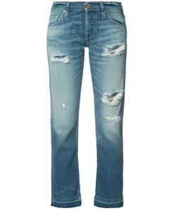 Nsf | Ripped Cropped Jeans 27 Cotton/Rayon