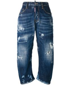 Dsquared2 | Cropped Distressed Jeans 40 Cotton/Spandex/Elastane