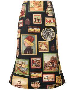 SIMON MILLER | Portrait Print Midi Skirt