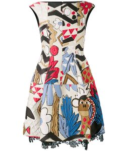 Talbot Runhof | Embroidered Patch Dress