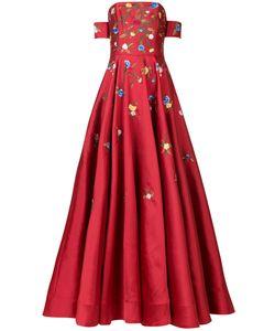 Sachin And Babi | Вечернее Платье С Вышитыми Цветами
