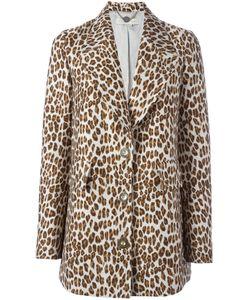 Stella Mccartney | Пальто С Леопардовым Узором И Заостренными Лацканами