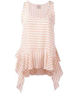 Nude | Striped Soft Peplum Vest Size 40