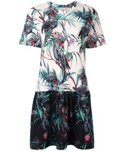 PS PAUL SMITH   Ps By Paul Smith Macaw Print Fla Dress Xl