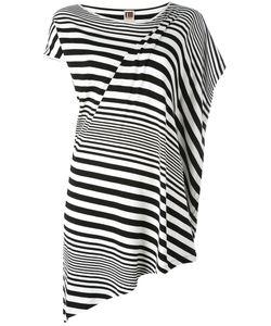 I'm Isola Marras   Striped Asymmetric T-Shirt Medium Spandex/Elastane/Viscose