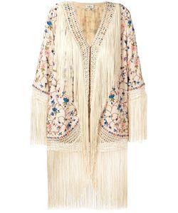 TALITHA | Fringed Detail Jacket Large Silk