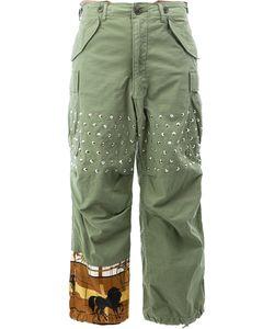 JUNYA WATANABE COMME DES GARCONS | Junya Watanabe Comme Des Garçons Studded Fla Trousers Small