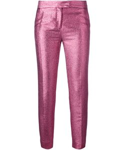 Christian Pellizzari | Glittery Tailo Trousers 40 Cotton/Acetate/Polyester