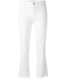 Ermanno Scervino | Frayed Crop Trousers Size 46