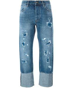 Mih Jeans   Джинсы С Потертой Отделкой Phoebe