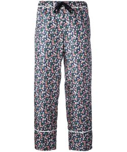 Moncler | Print Cropped Trousers 44 Silk