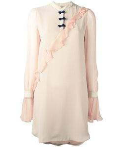 Marco De Vincenzo | Pleated Trim Dress 38 Silk
