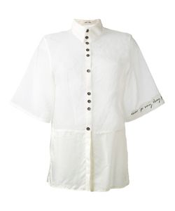 Damir Doma | Panelled Frayed Edge Shirt Size Medium