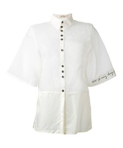 Damir Doma | Panelled Frayed Edge Shirt Size Xs