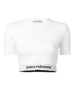 Paco Rabanne   Logo Trim Cropped Top Size Small