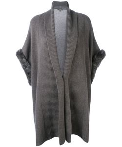 N.PEAL | Ribbed Trim Cardi-Coat Size Small