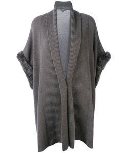 N.PEAL   Ribbed Trim Cardi-Coat Size Small