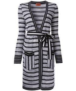 Missoni | Open Midi Cardigan 44 Cotton/Nylon/Viscose/Wool