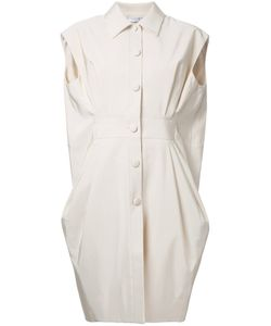 Lanvin | Pleated Sleeveless Coat 38 Cotton/Viscose