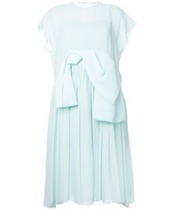 Delpozo | Oversized Bow Fla Dress 36 Silk